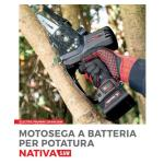 Potatore AUSONIA NATIVA SAW a batteria cordless 3 batterie  incluse